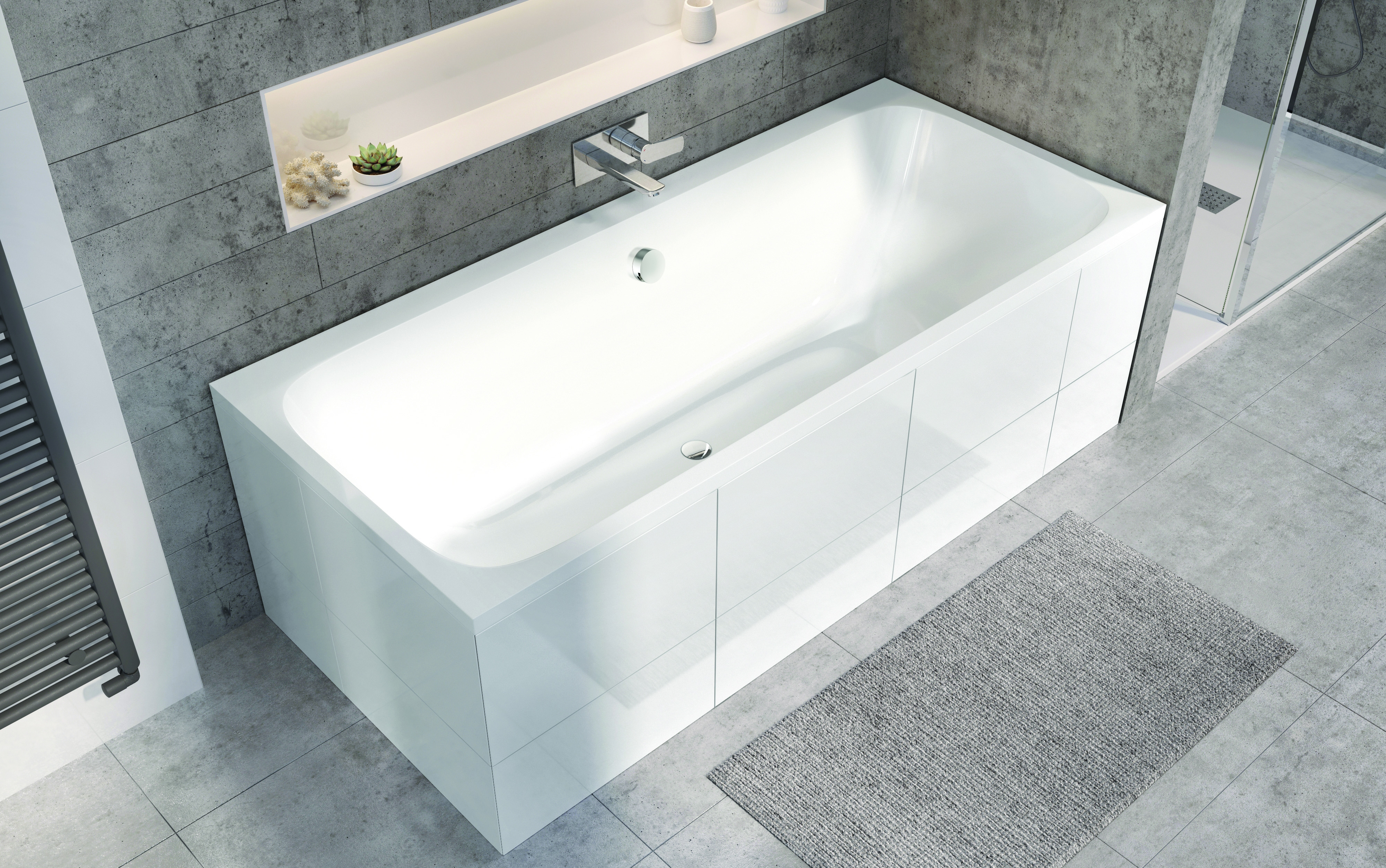 Londra Double Ended bath with wall mixer tap