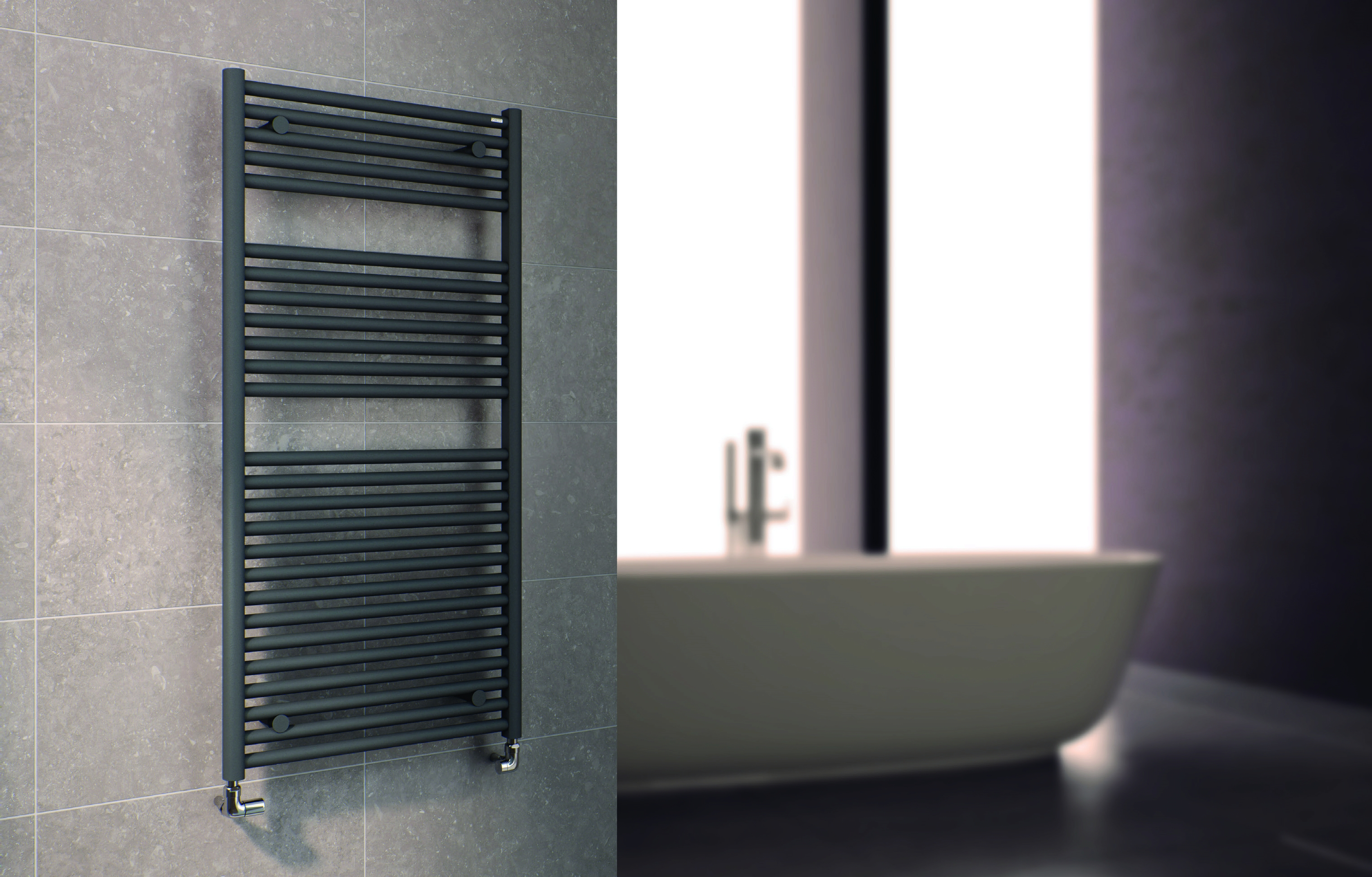 Hugo2 Towel Rail in Anthracite